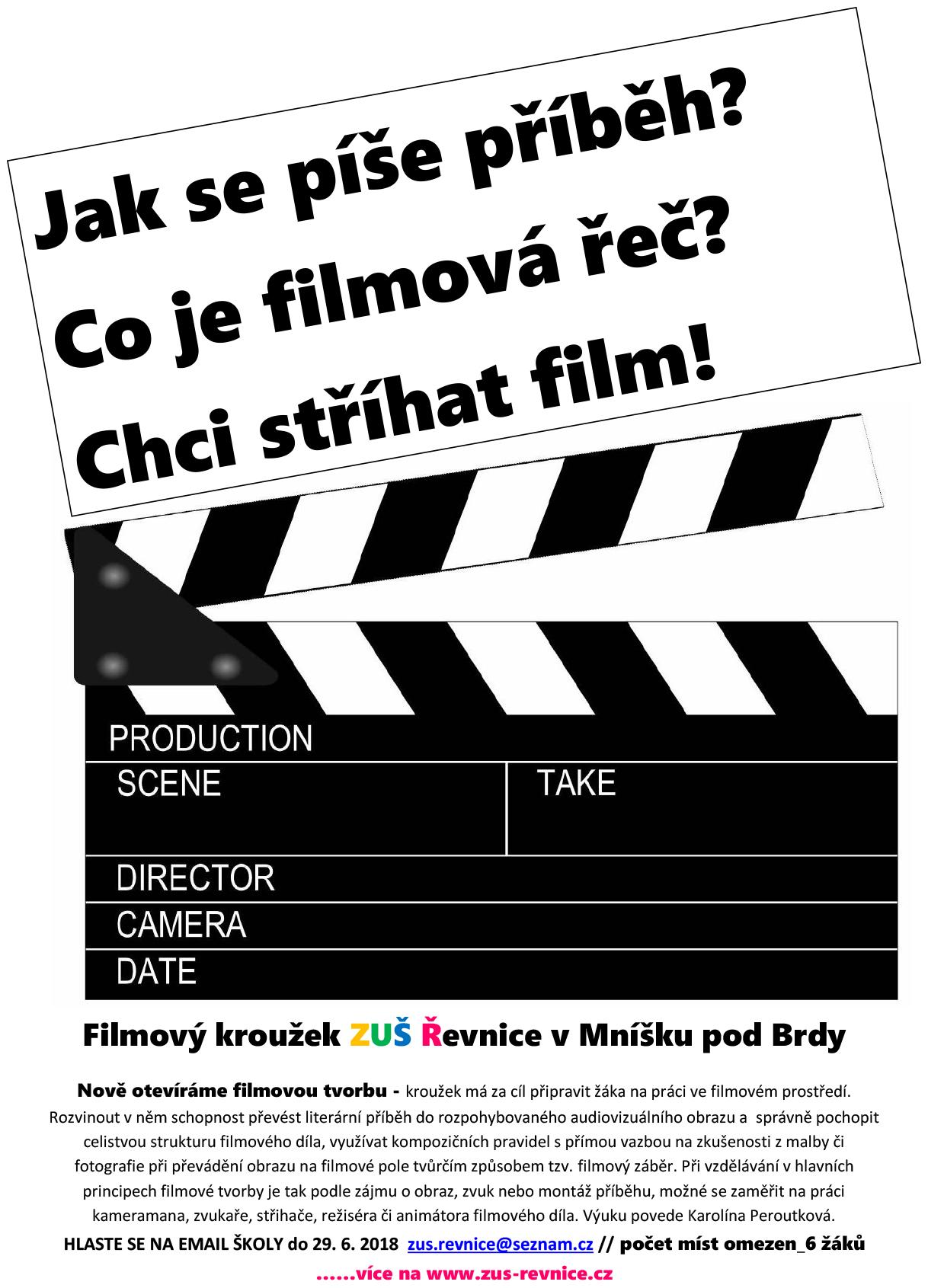 f5732f444 Filmová tvorba i v pobočce v Mníšku pod Brdy – volná místa v kurzu ...